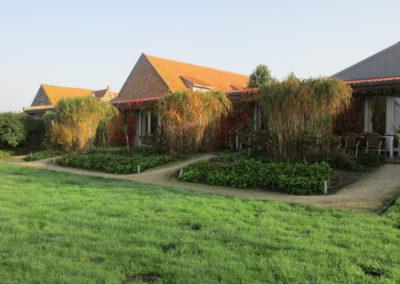 vakantiehuis aan zee domein Rietvelde groepshuisje terrassen