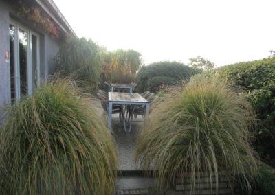 vakantiehuis aan zee domein Rietvelde groepshuisje tuin