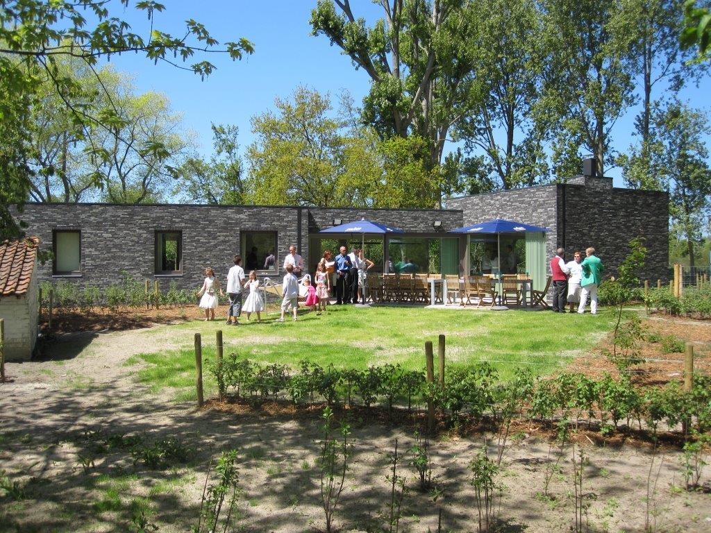 afgesloten tuin vakantiehuis aan de zee Duinpaviljoen