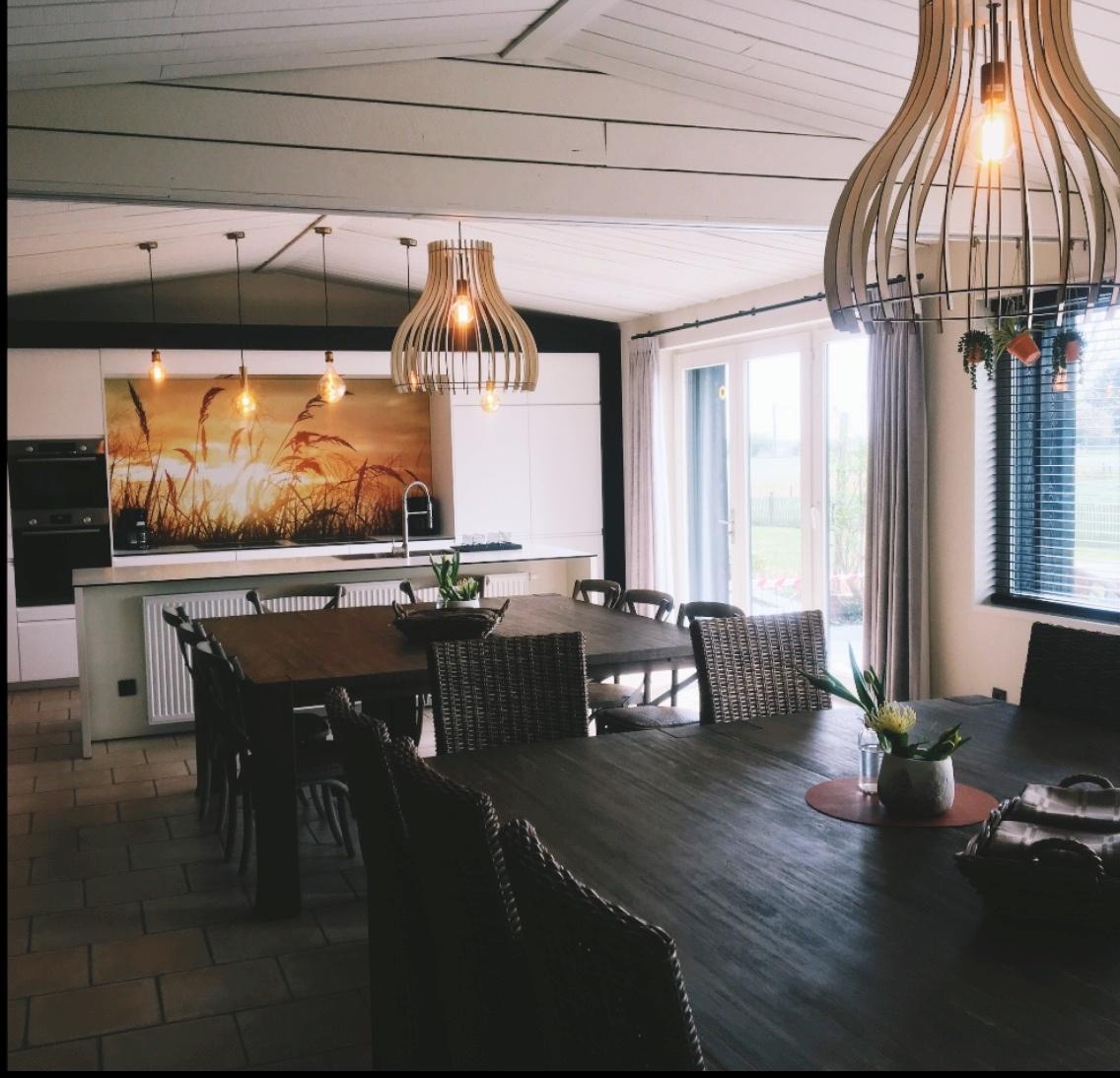 Vakantie aan de zee Het Riethuis keuken